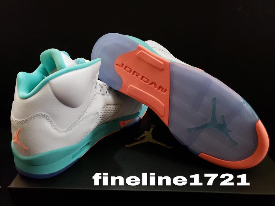 """20bd72f4847fd1 Air Jordan 5 GS """"Light Aqua"""" coming July 14th – SoleGRIND"""