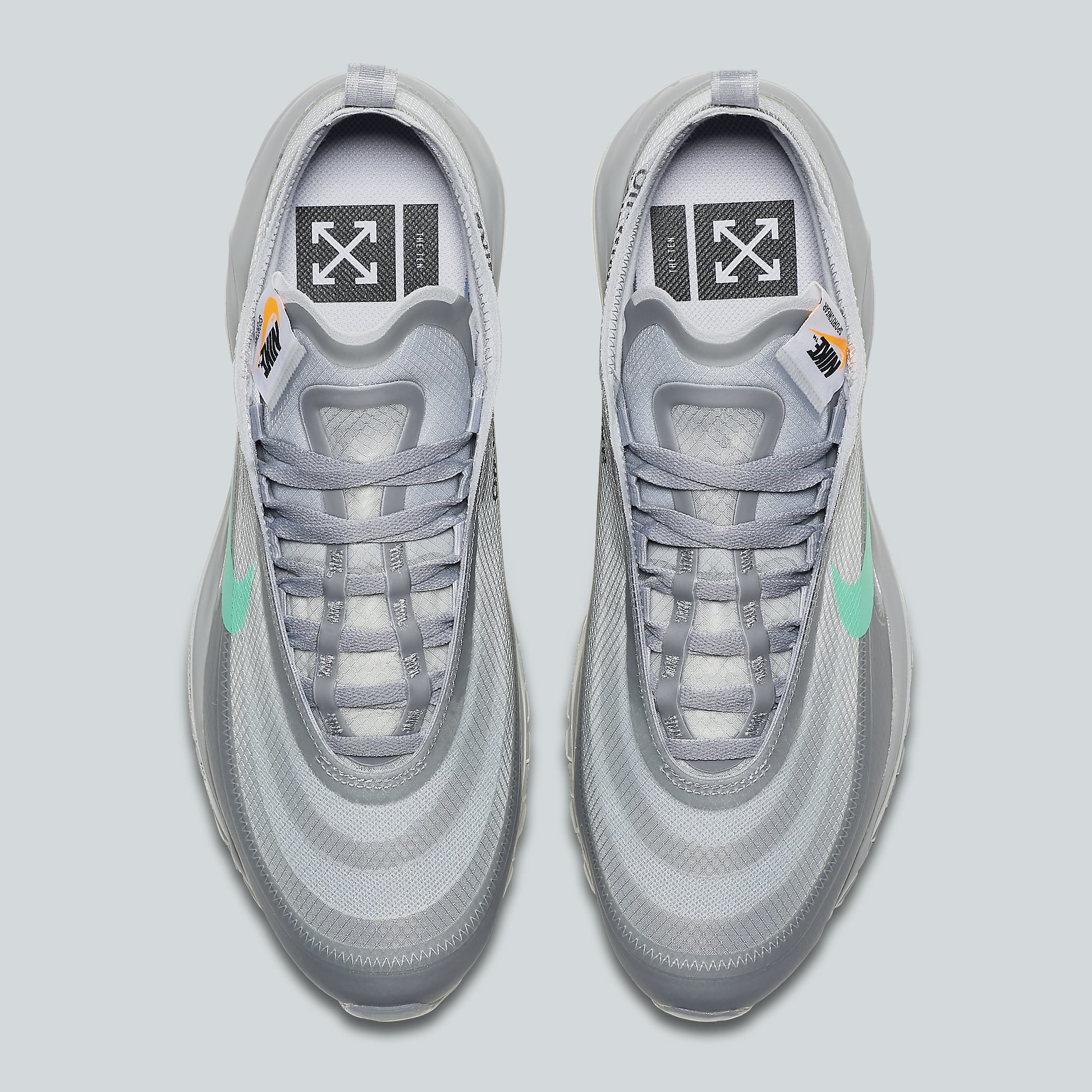 Off White X Nike Air Max 97 Menta Solegrind